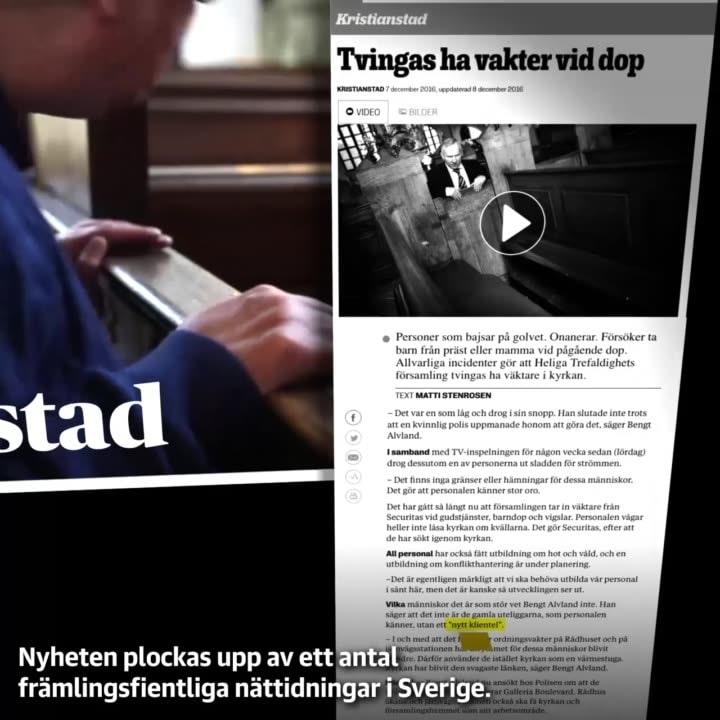 Härifrån sprids en fejknyhet om vilka som skändat en kyrka i Sverige - DN.SE