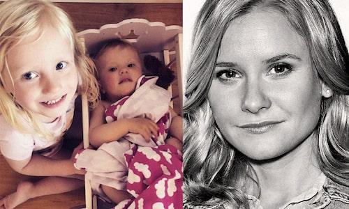Greta och Hedda är både lika och som natt och dag, enligt mamma Ebba Hultkvist.