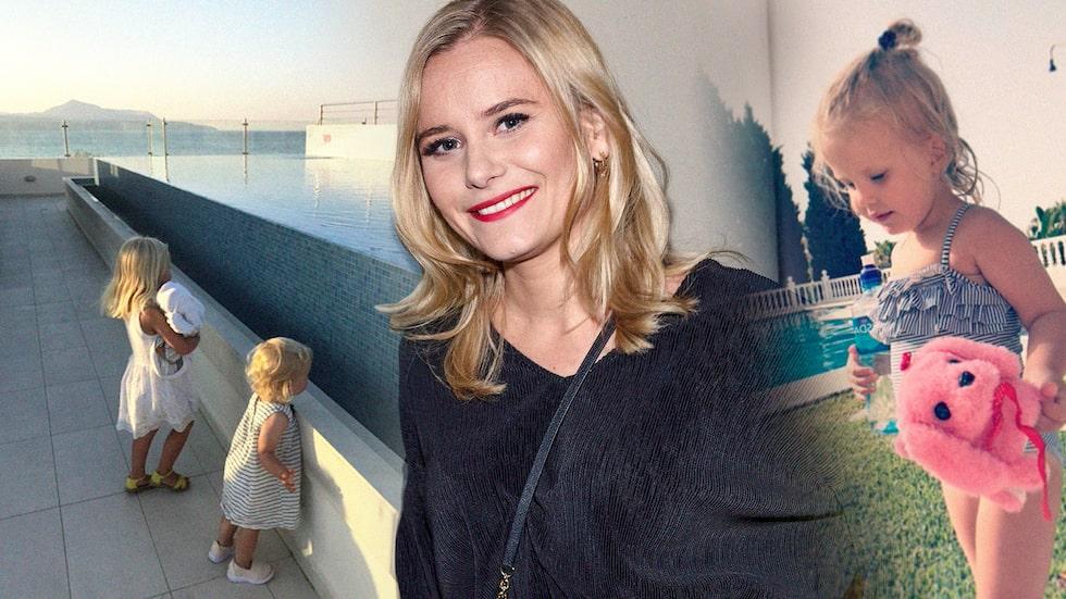 Ebba Hultkvist med döttrarna Greta och Hedda.