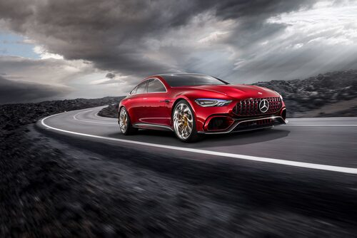 Mercedes-AMG GT Concept visades under Genèvesalongen 2017.