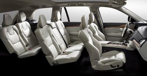 Komforten i de två bakre stolarna ska enligt Volvo vara klassledande.