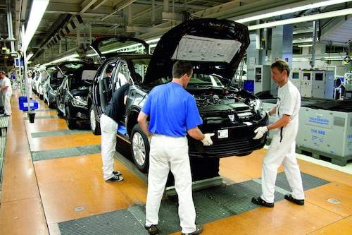 Produktion i Volkswagens Wolfsburg-fabrik.