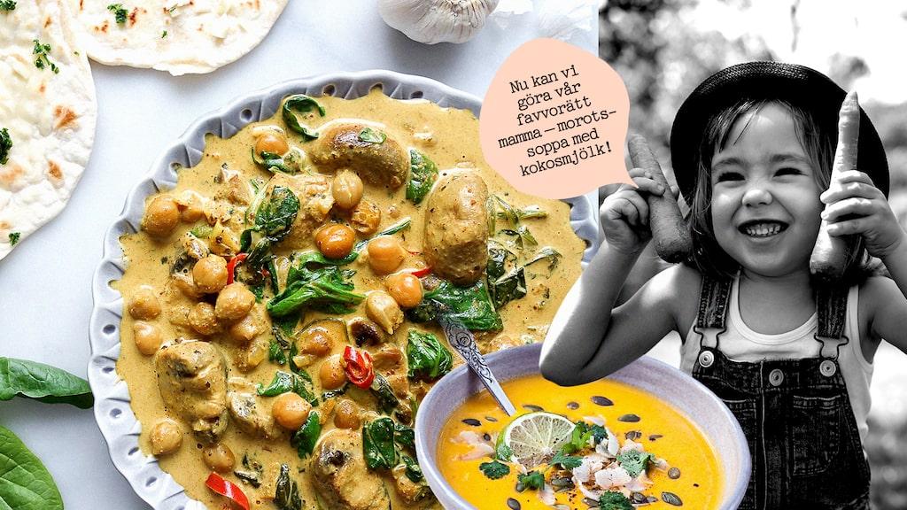 Vi tipsar om 7 veganska recept på mat som funkar för både barn och vuxna (hoppas vi!).