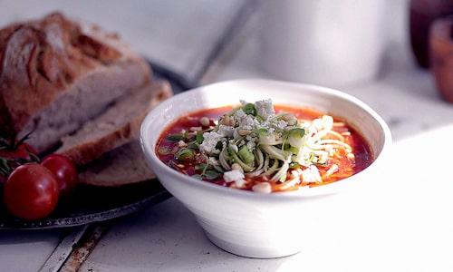 Mums med mustig vegansk soppa!