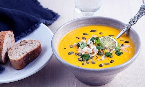 Både snygg, god och vegansk soppa!