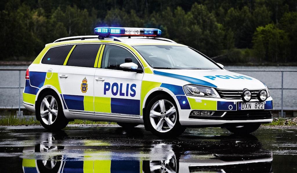 Polisbil Volkswagen Passat Polis
