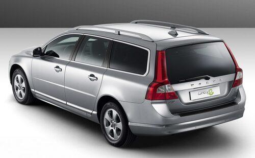Volvo V70 1,6D DRIVe, 109 hk, 240 Nm, 129 gram CO2 per kilometer, 0,49 liter per mil.