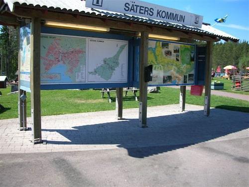 Informationstavlor om området runt omkring är ett plus.