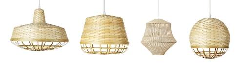 Lampa i klarlackad bambu och polypropen, från 249 kronor.