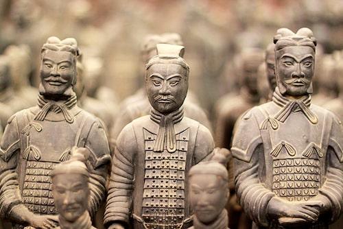Den berömda terrakottaarmén i Xian