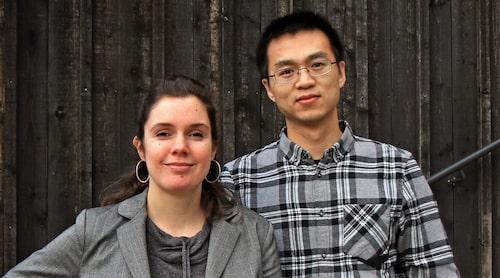 Nicole Fringos och Feng Chen vid KTH forskar om elektrisk asfalt.