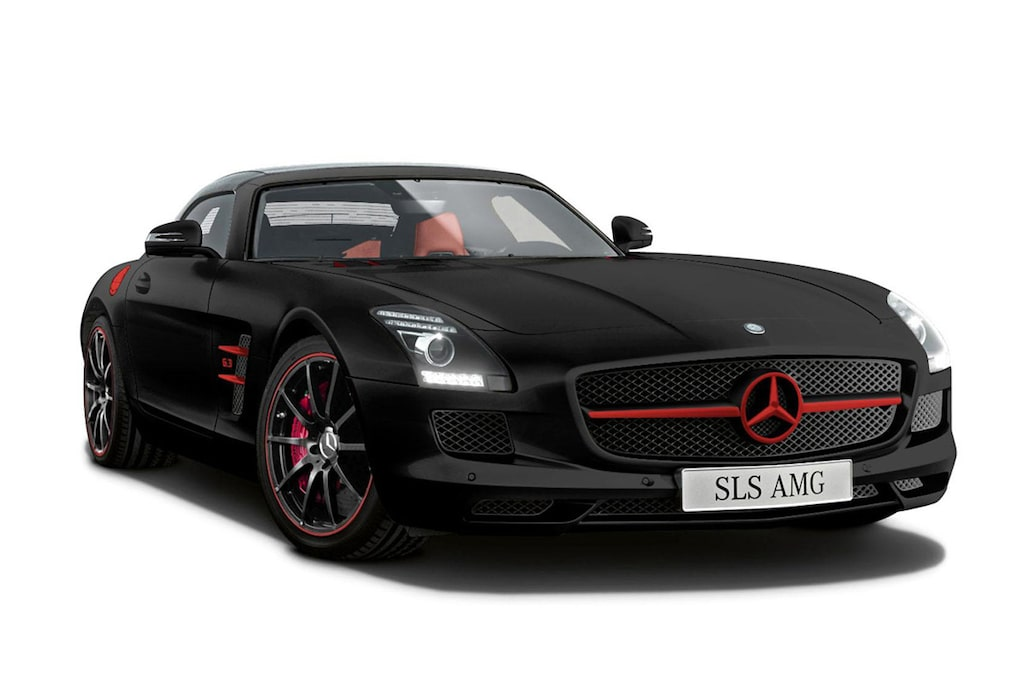 Mercedes SLS AMG Roadster Matt Edition Black