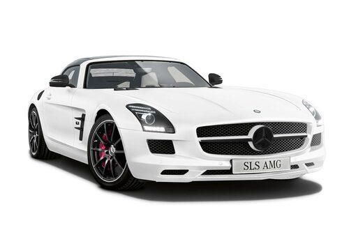 Mercedes SLS AMG Roadster Matt Edition White