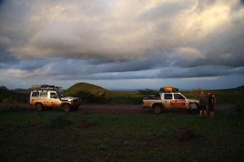 Kenyansk solnedgång.