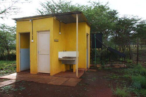 Dusch och toalett = tecken på lyx.