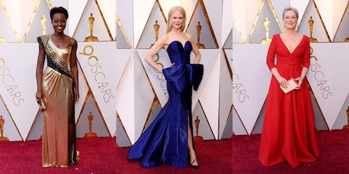 Triss i lyxklänningar på Oscarsgalan 2018.