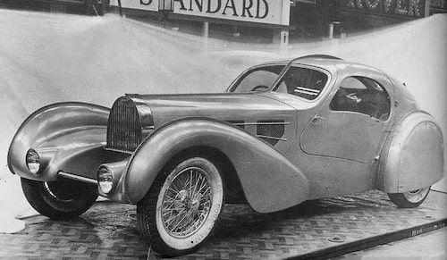 Bugatti Type 57 Aérolithe prototyp, 1935.