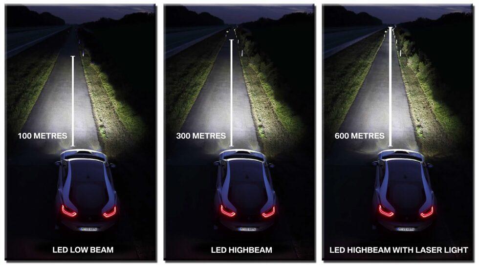 BMW i8 laserstrålkastare