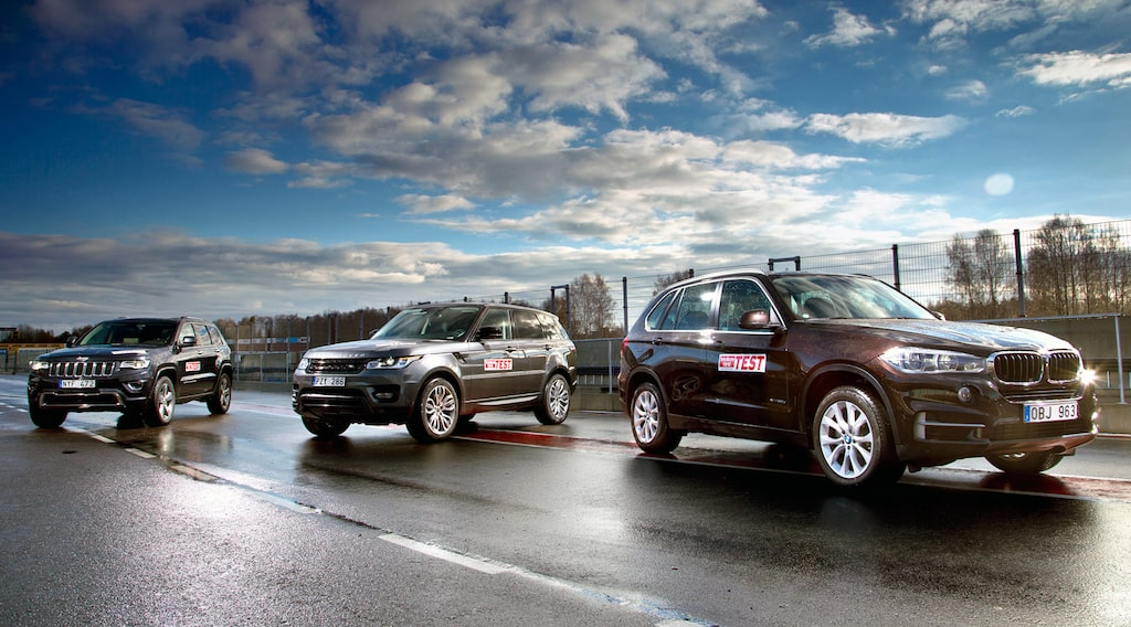 Jeep Grand Cherokee, Range Rover Sport och BMW X5
