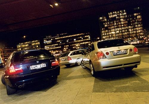 BMW, Mercedes och Lexus