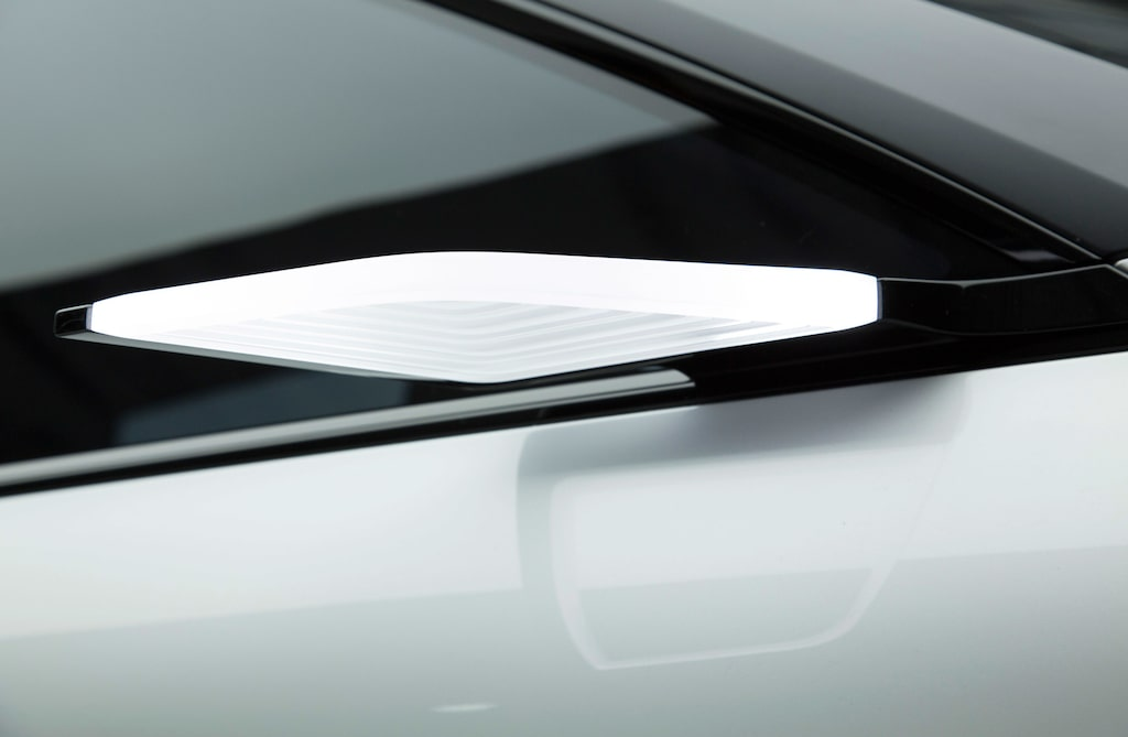 Kamerabaserad backspegel på Volvo Concept 40.1.