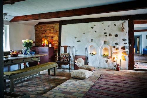 """et gamla eldstadskomplexet som samlade flera funktioner i en enhet under en enda skorsten. """"Illaren"""" var vid 1800-talets mitt den vanliga eldstadstypen på landsbygden i mellersta och södra Skåne."""