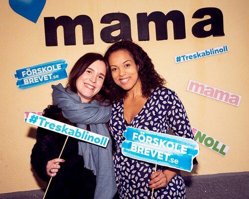 """mama-bloggaren Hannah """"Dreamteam på deltid"""" Almerud och Elaine."""