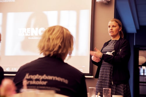 Åsa Lindén Gretander från Ängbybarnens förskolor.