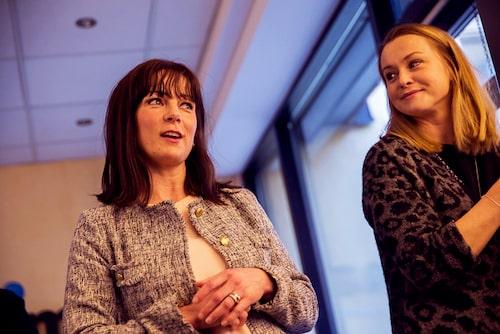 Kriminolog Maria Dufva och mamas redaktionschef Malin Lundberg Aguilera.