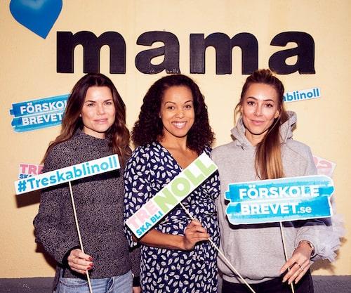 Valerie Aflalo, Elaine Eksvärd och mamas bloggare Alexia Kafkaletos.