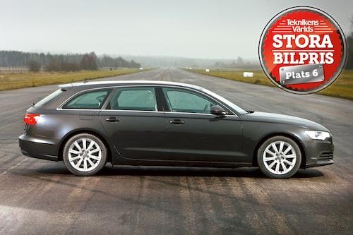 Plats 6: Audi A6 Avant. Motivering: Bra kan bli bättre. Audi A6 i Avant-utförande är svårslagen. Lyxbil och vardagsvagn i ett. Lägg gärna till pengar för TDI-maskin och quattrodrivning och du har en riktig drömkärra!
