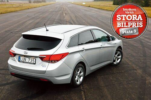 Plats 3: Hyundai i40 Kombi. Motivering: Hyundais första försök i större mellanklassen imponerar. Kvaliteterna är fin komfort, tillräckliga utrymmen och ett bra pris.