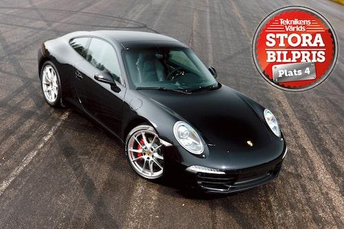 Plats 4: Porsche 911. Motivering: Orubblig som den ultimata sportbilen regerar Porsche 911 i senaste utgåvan. Vi rekommenderar alla bilälskare en provtur med nya 911!