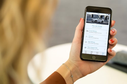 Uppdaterad Volvo On Call-app.