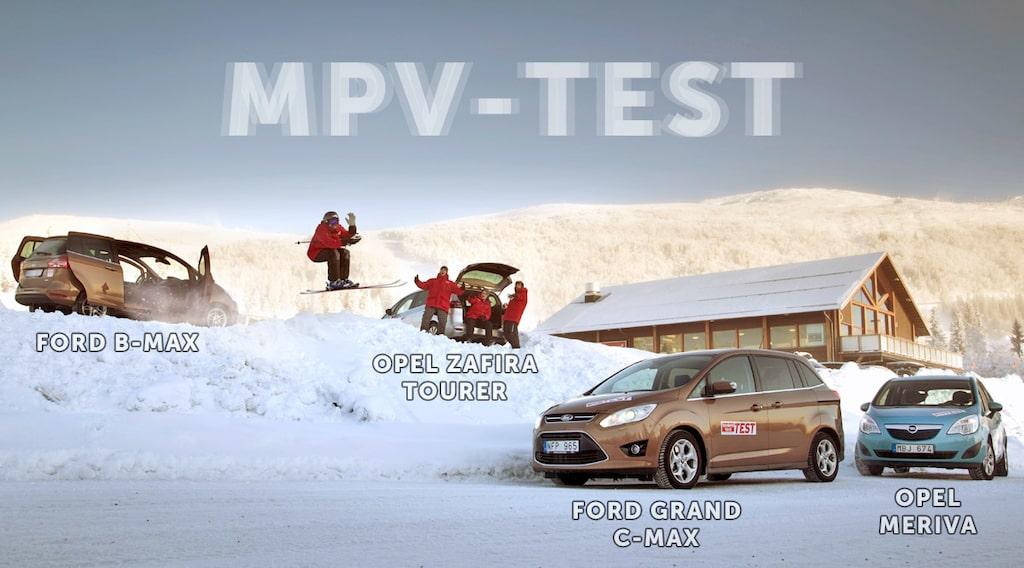 Ford B-Max, Opel Zafira Tourer, Ford Grand C-Max och Opel Meriva