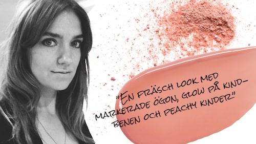 Makeup-artisten Nathalie Berzelius sminkade prinsessan Madeleine för den exklusiva plåtningen.