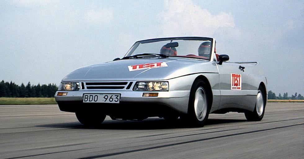 Teknikens Världs projektbil Saab Speeder från 1986.