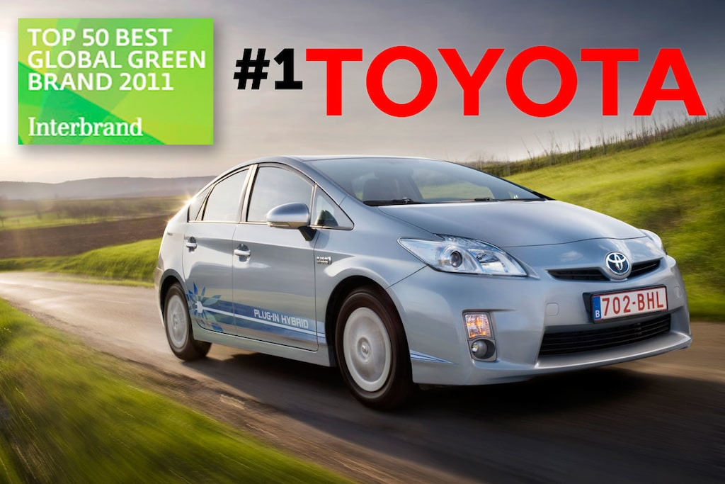 Toyota grönaste varumärket i världen