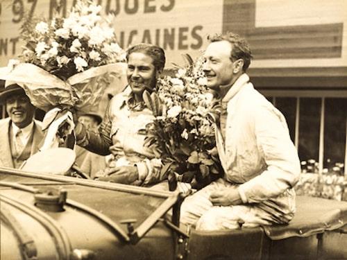 """Woolf Barnato på Le Mans 1929 med racingföraren Tim Birkin, även han en av """"Bentley Boys""""."""