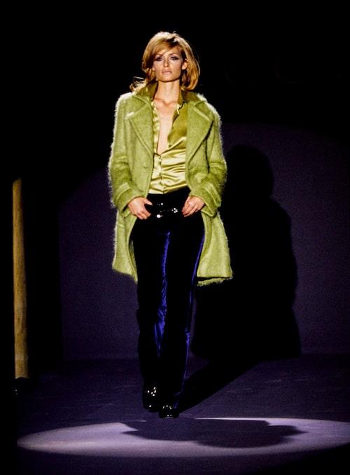 Amber Valetta på Tom Fords första visning för Gucci, våren 1995.