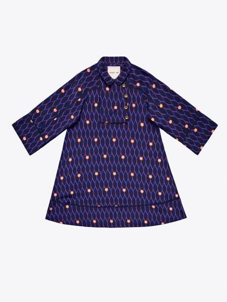 Mönstrad sidenklänning, 999 kr