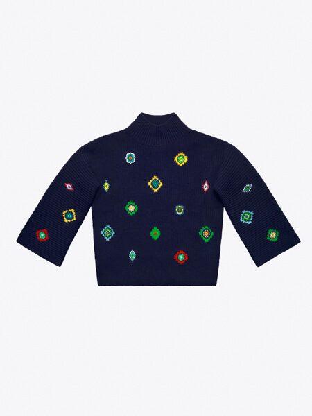 Stickad tröja i lammull, 799 kr