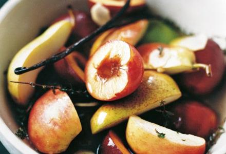 Höstfruktsallad med timjan och ingefära