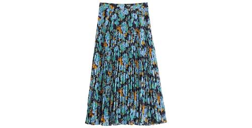 Lång kjol i blommig, plisserad voile från La Redoute Collections.