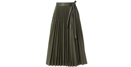 Belted pleated vegan leather midi skirt från 3.1 Phillip Lim.