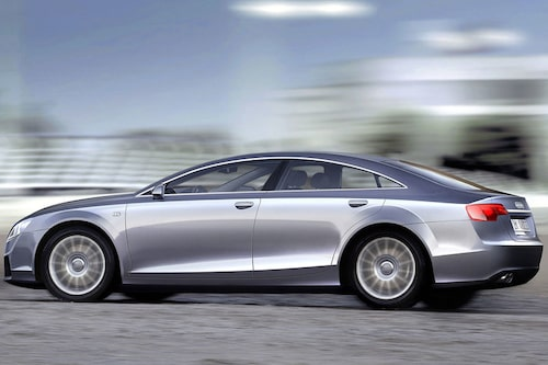 En av många illustrationer som kanske kan ge en fingervisning om hur Audi A7 kan komma att ser ut.