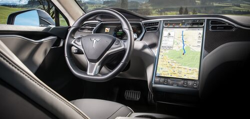 Inuti går det inte att se någon skillnad mellan de olika Tesla-modellerna.