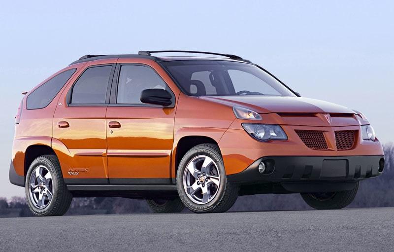 1. PONTIAC AZTEK. Har gång på gång blivit framröstad som världens fulaste bil.