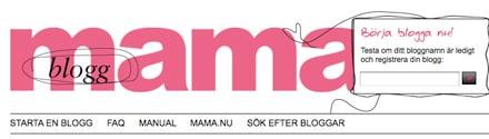 Driftstörningar på mama blogg