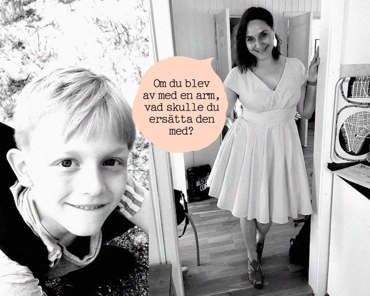 Lisas son Axel skulle ersätta armen med en robotarm – såklart!